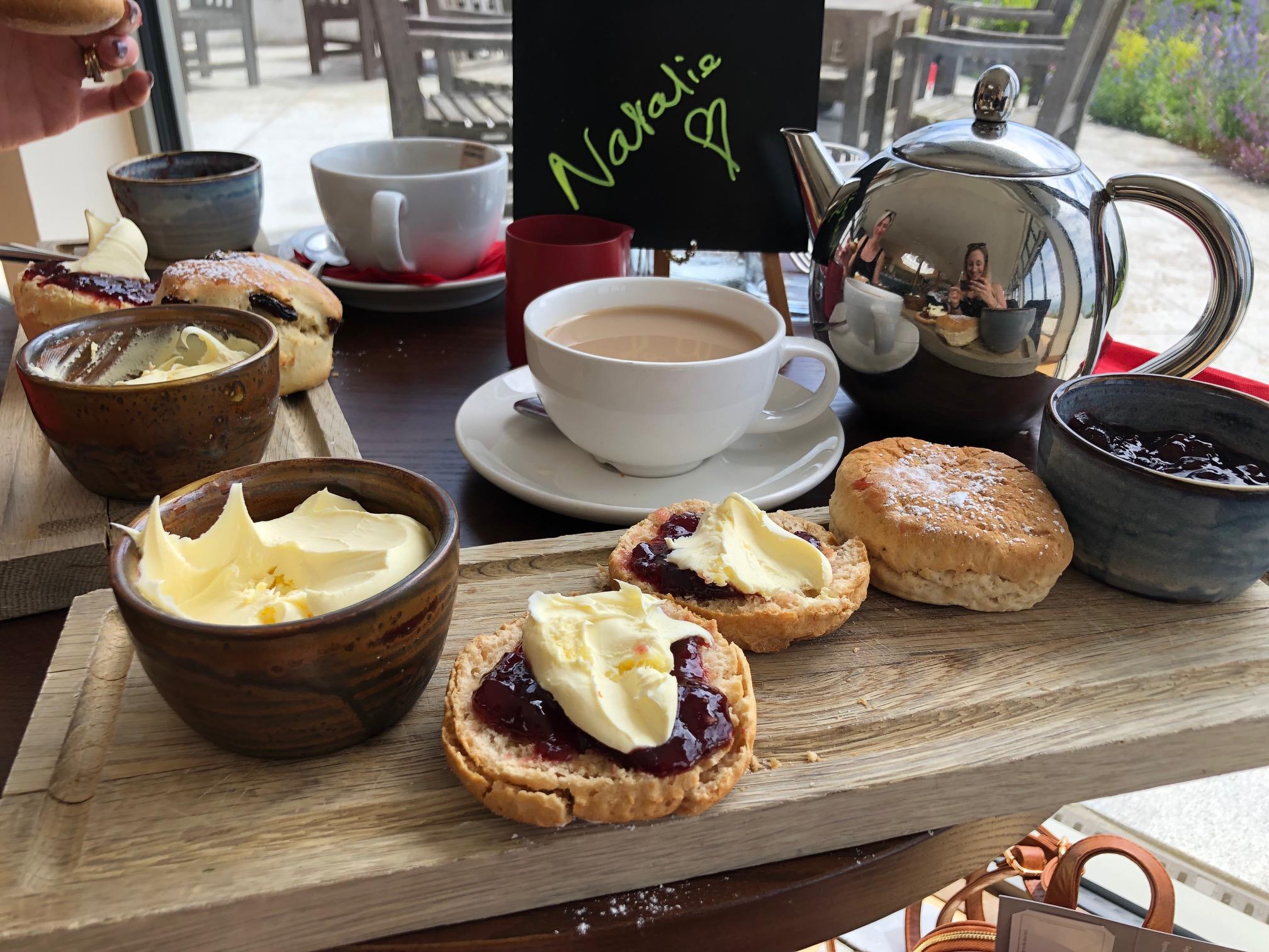 Cornish cream tea and scones.