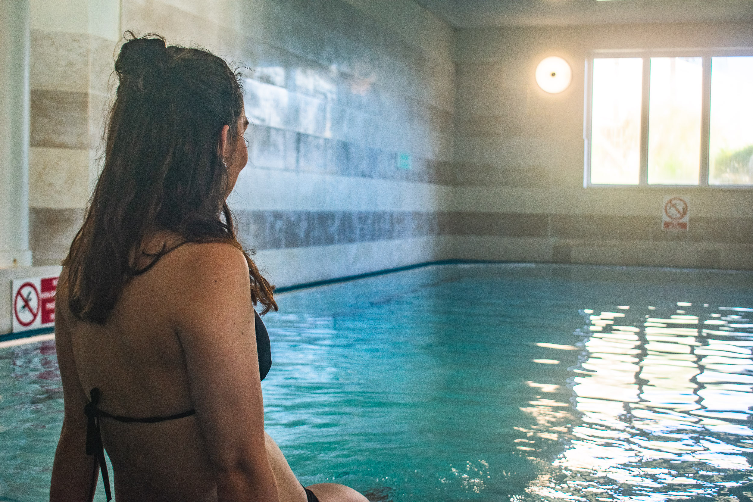 Indoor swimming pool at the Polurrian Health Club.