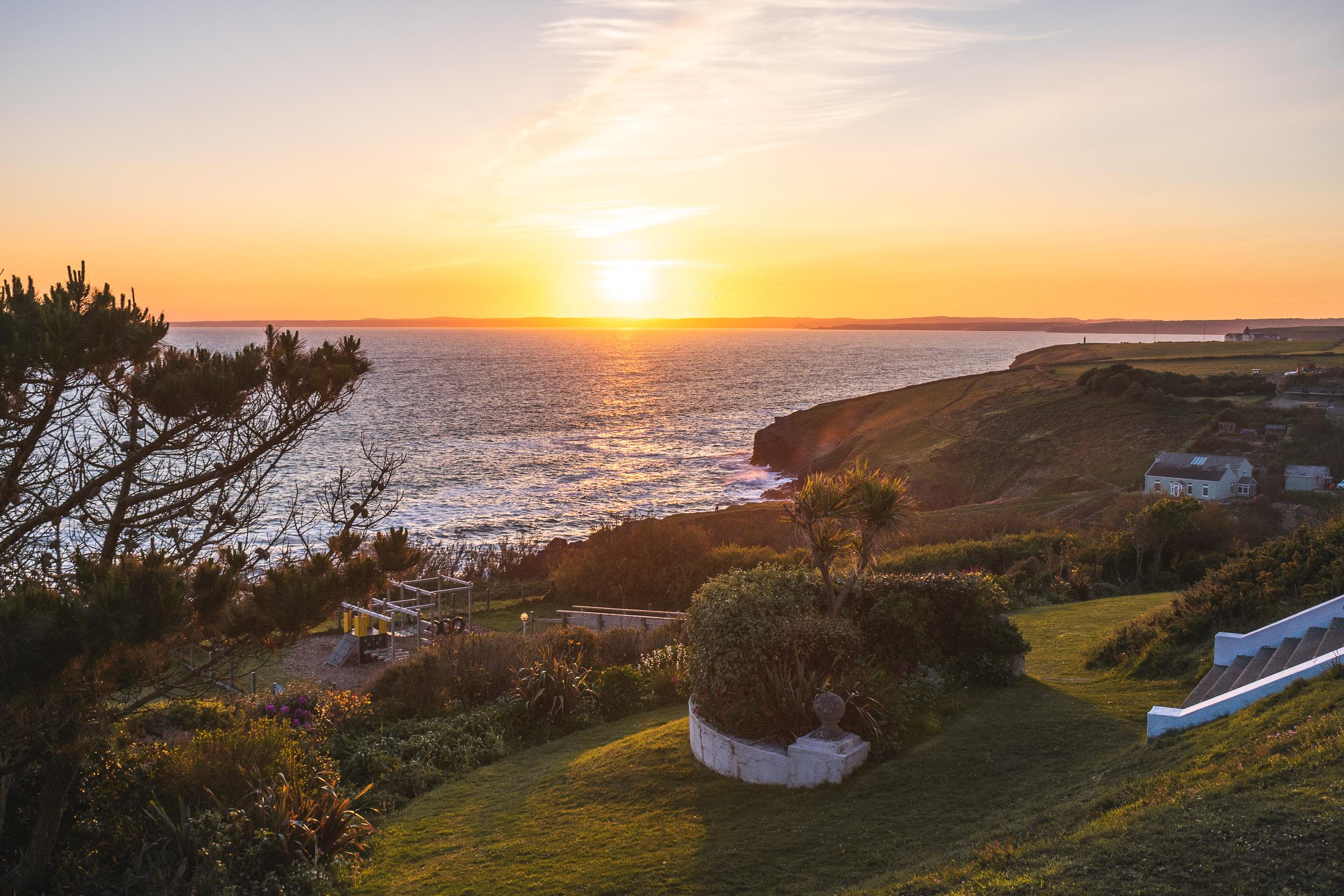 Polurrian sunset, Cornwall.