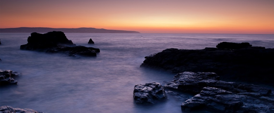 Sunset on Cornish coast