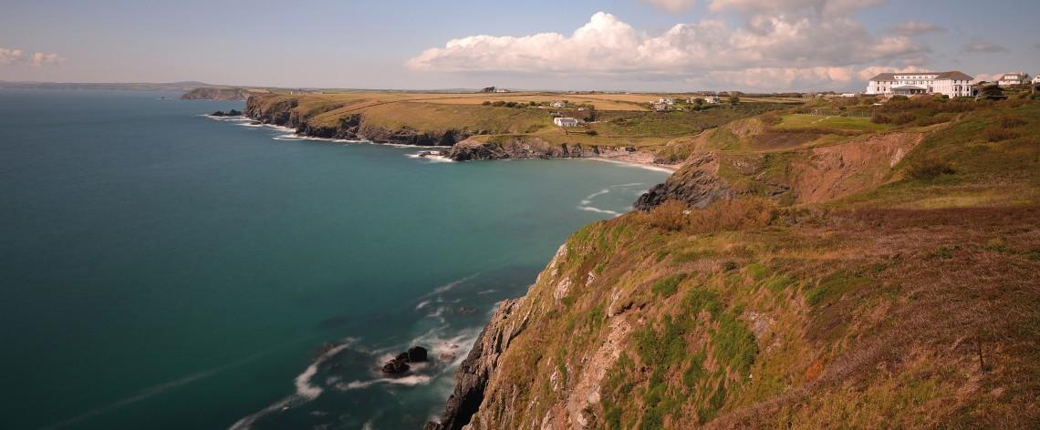 The coastal cliffs of the Lizard peninsula in Cornwall.