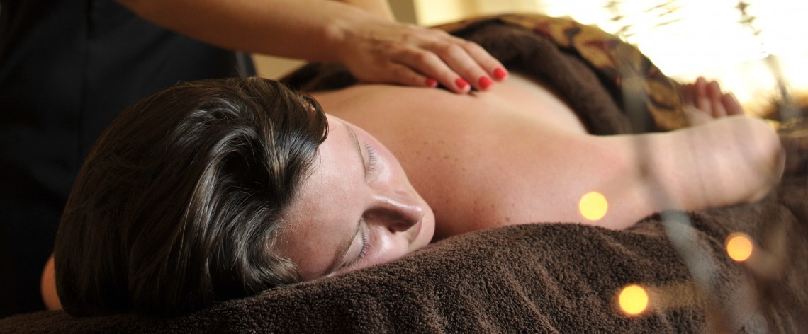 Back massage at the luxury spa at Polurrian Bay
