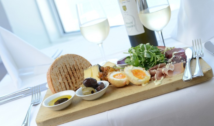 Antipasti platter from the Polurrian Bay Hotel menu