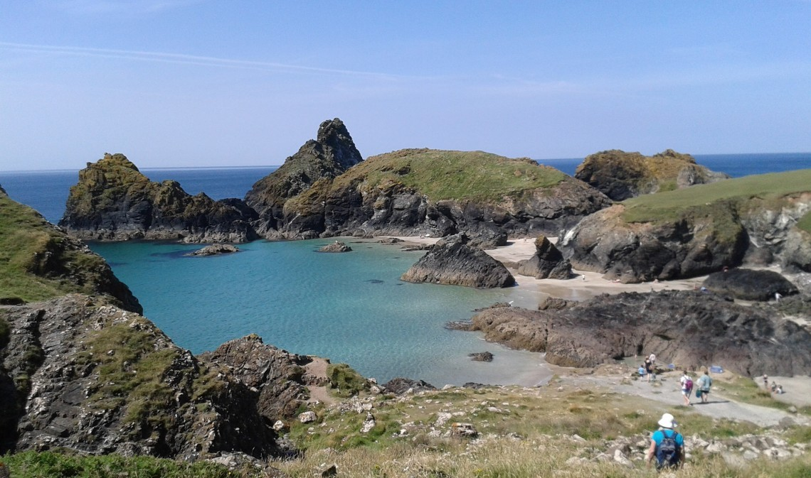 Kynance Cove beach in Cornwall.