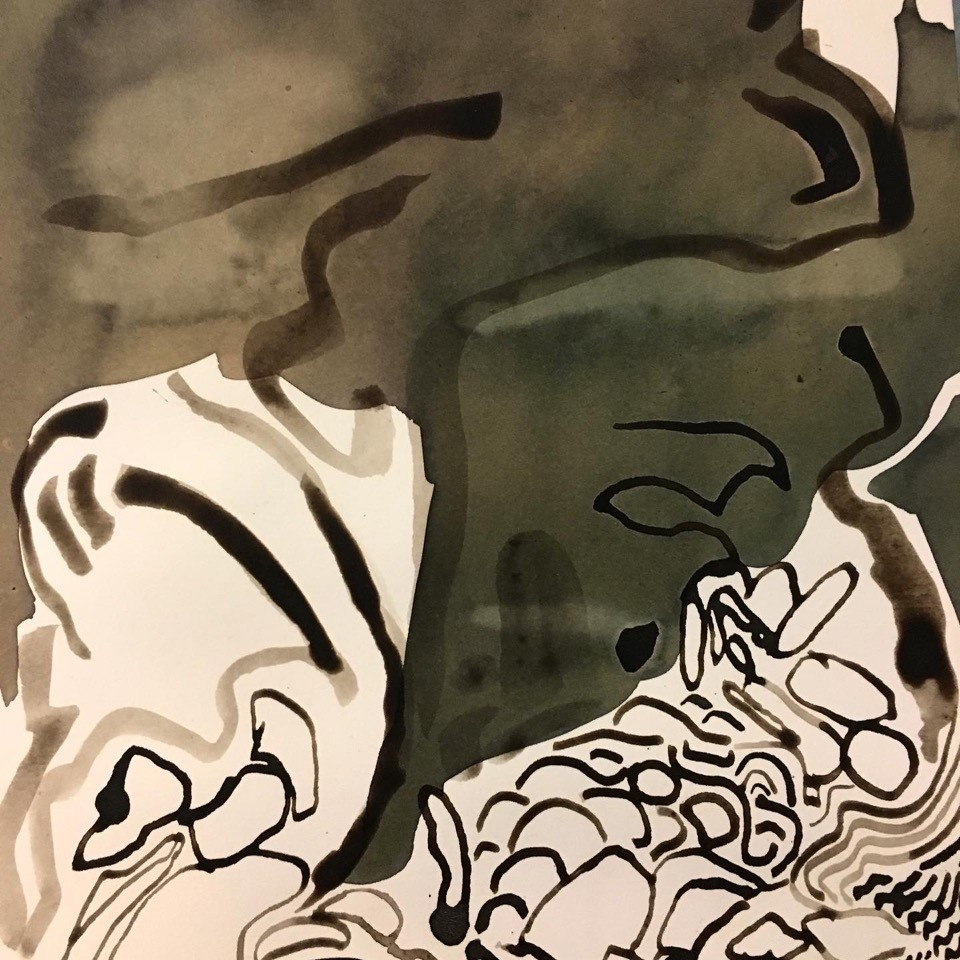 drawing of natural ink