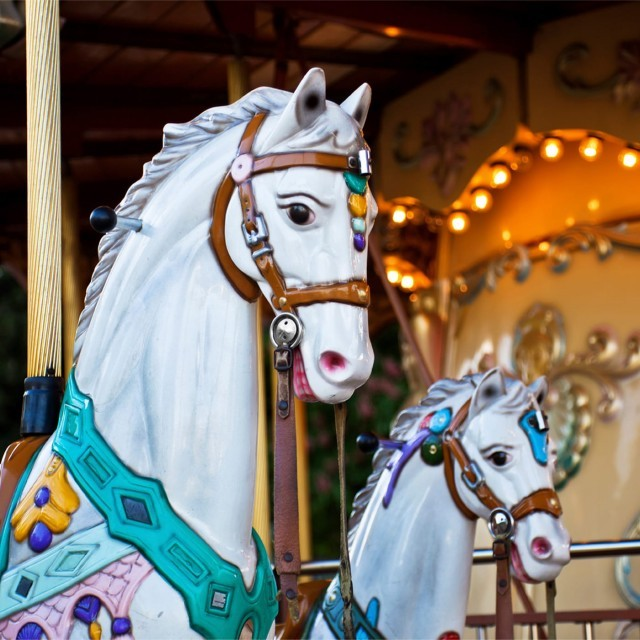 Fairground carousel at Flambards Experience in Helston