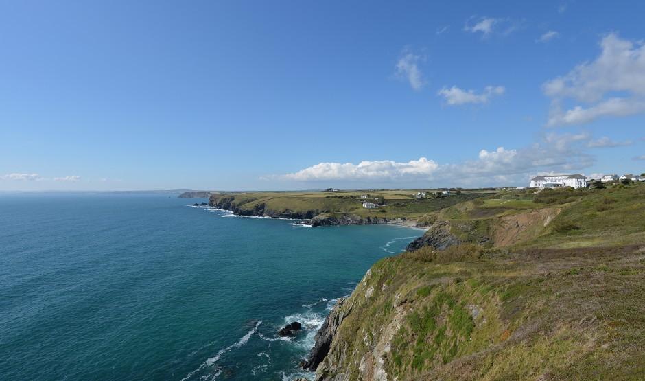 Cornish coast around Polurrian Bay