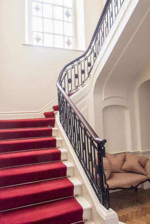 Elegant stairways.