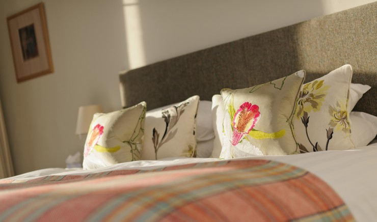Family bedroom at child-friendly hotel Polurrian Bay in Cornwall