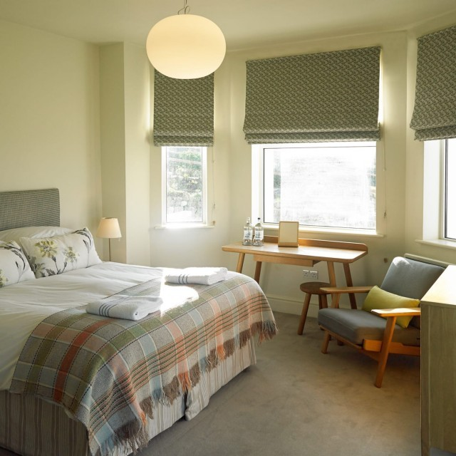 A family-friendly hotel room at Polurrian Bay in Cornwall