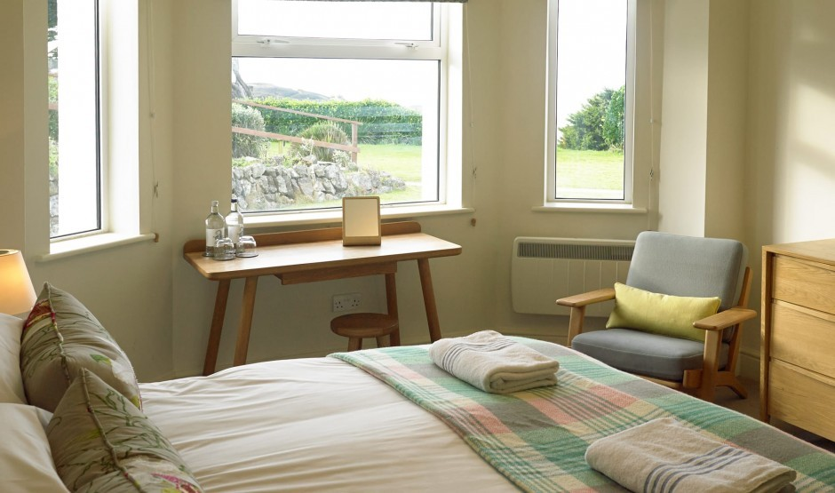 An inland facing garden family room at the Polurrian Hotel in Cornwall
