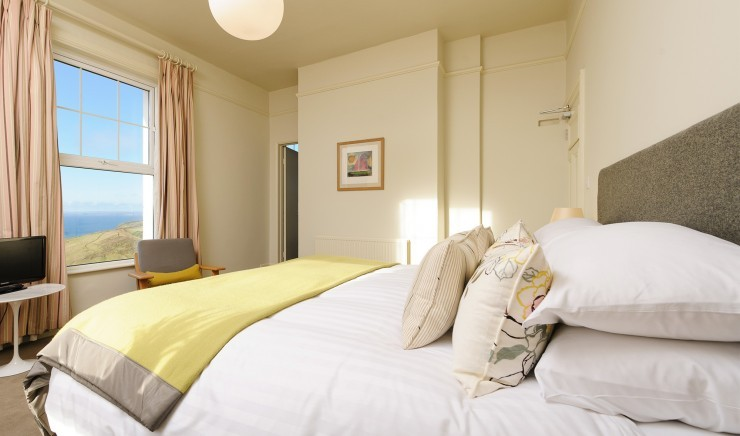 Large Superior Sea View Double Room at Polurrian Bay Hotel