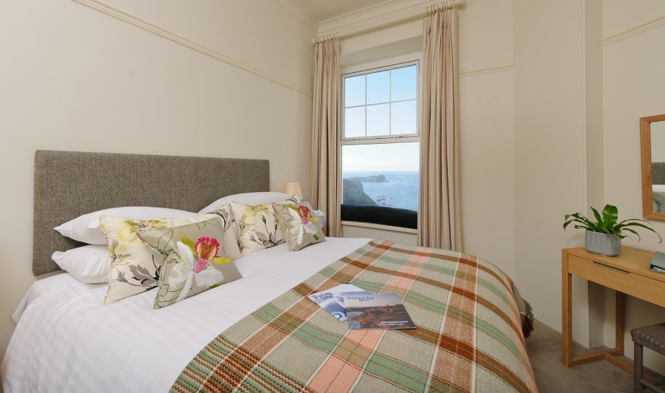 Sea view double room at Polurrian Bay Hotel near Helston
