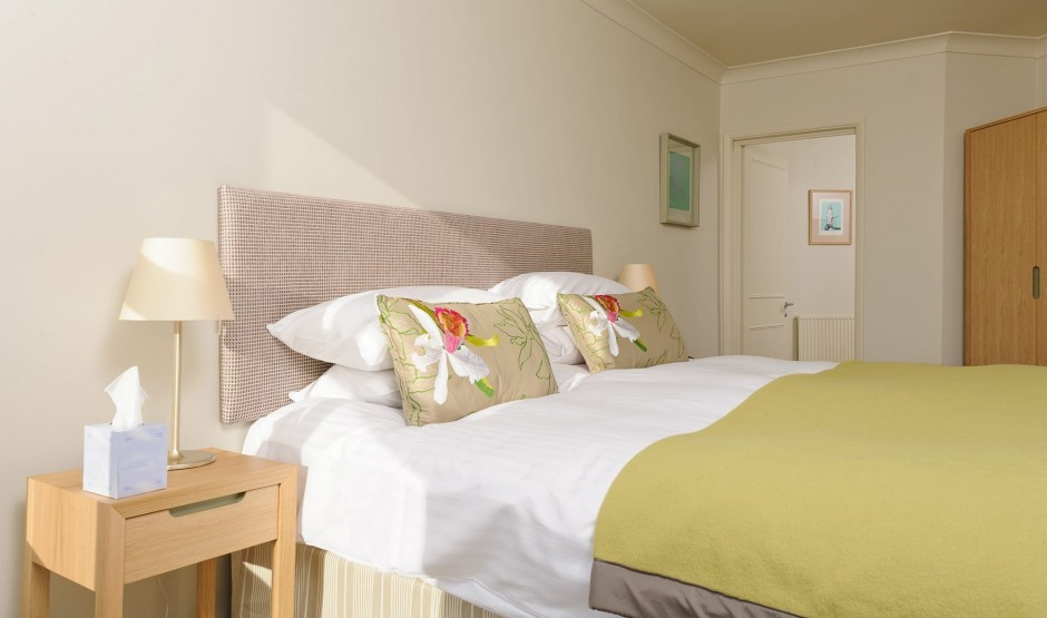 Luxurious family bedroom at Polurrian Bay Hotel near Helston
