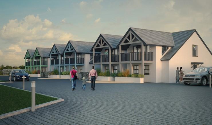 A CGI of the new holiday villas at Polurrian Bay Hotel.