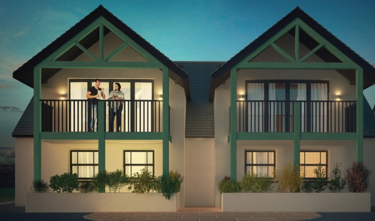 A CGI of the new villas at Polurrian Bay Hotel.